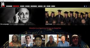 The website for the Education is Not a Crime campaign contains statements of support from prominent Iranians and human rights activists, as well as videos uploaded by individuals from around the world.